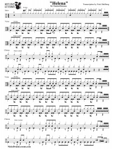 Helena Drum Sheet Transcription