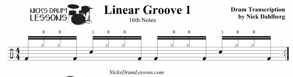Linear Groove 1 - Nick's Drum Lessons