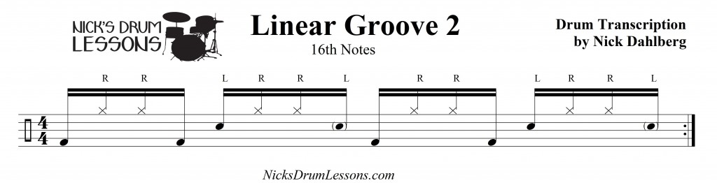 Linear Groove 2 - Nick's Drum Lesson