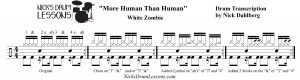 More Human Than Human Drum Transcription