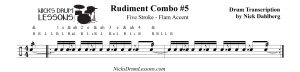 Rudiment-Combo-5-Five-Stroke-Flam-Accent